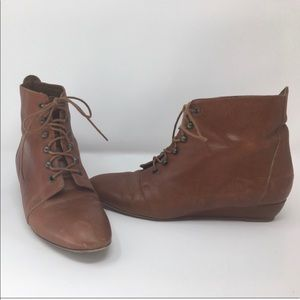 Loeffler Randall lace up boots.